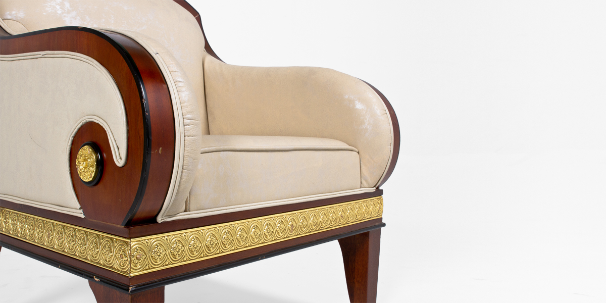 Mahogany Empire Gilded Guest Chair CHR013519
