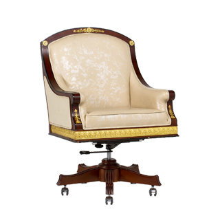 Mahogany Empire Gilded Mid-Back Office Chair CHR013520