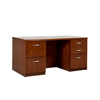 "60.25""w x 30.25""d Medium Cherry Executive Desk DSK013401"