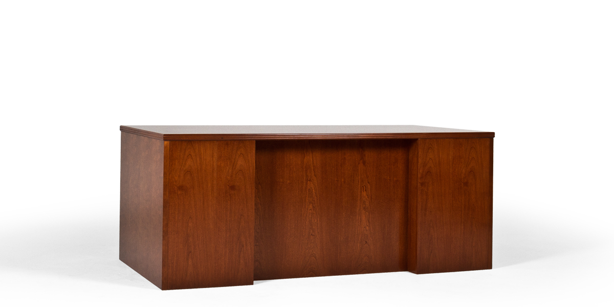 "72.25""w x 36.25""d Medium Cherry Executive Desk DSK013402"