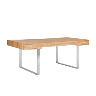 "74.75""w x 37.5""d Natural Wood Modern Desk DSK013498"