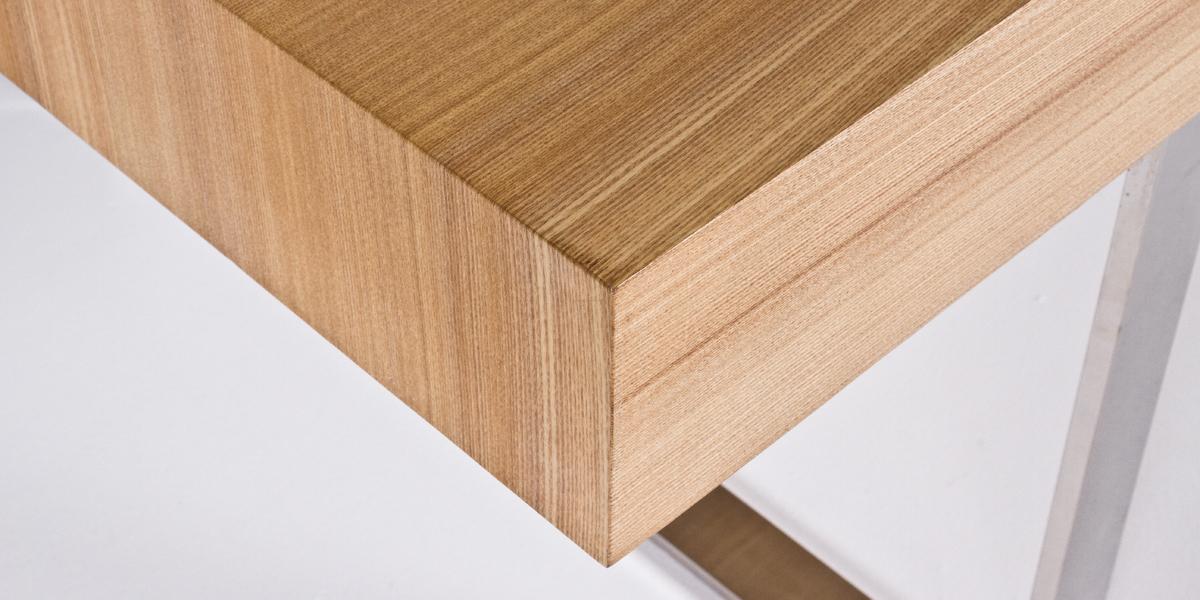 """74.75""""w x 37.5""""d Natural Wood Modern Desk DSK013498"""