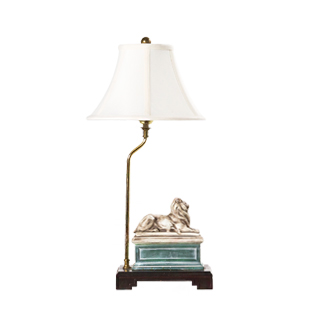 "23""h White Table Lamp LGT001612"