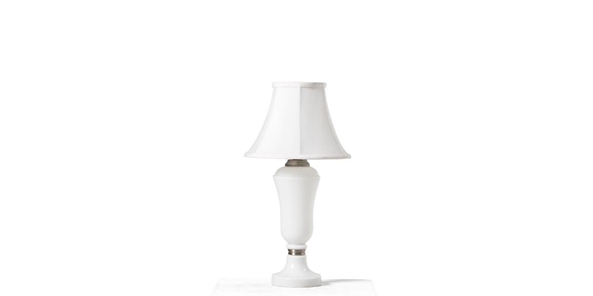 "14""h White Porcelain Table Lamp LGT011094"