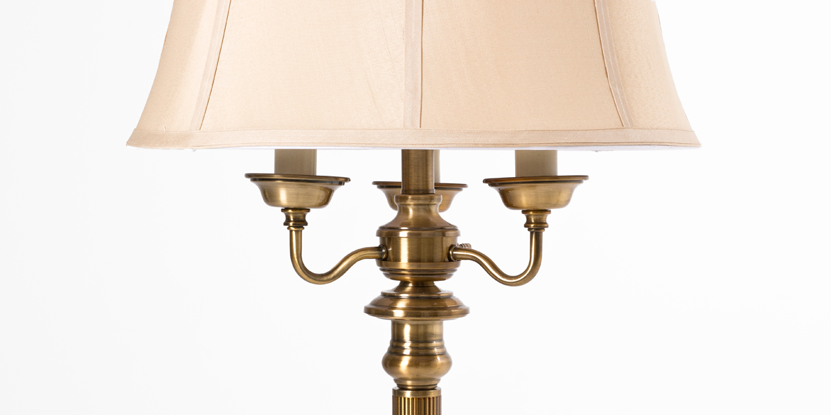 "63""h Burnished Brass Floor Lamp LGT013430"