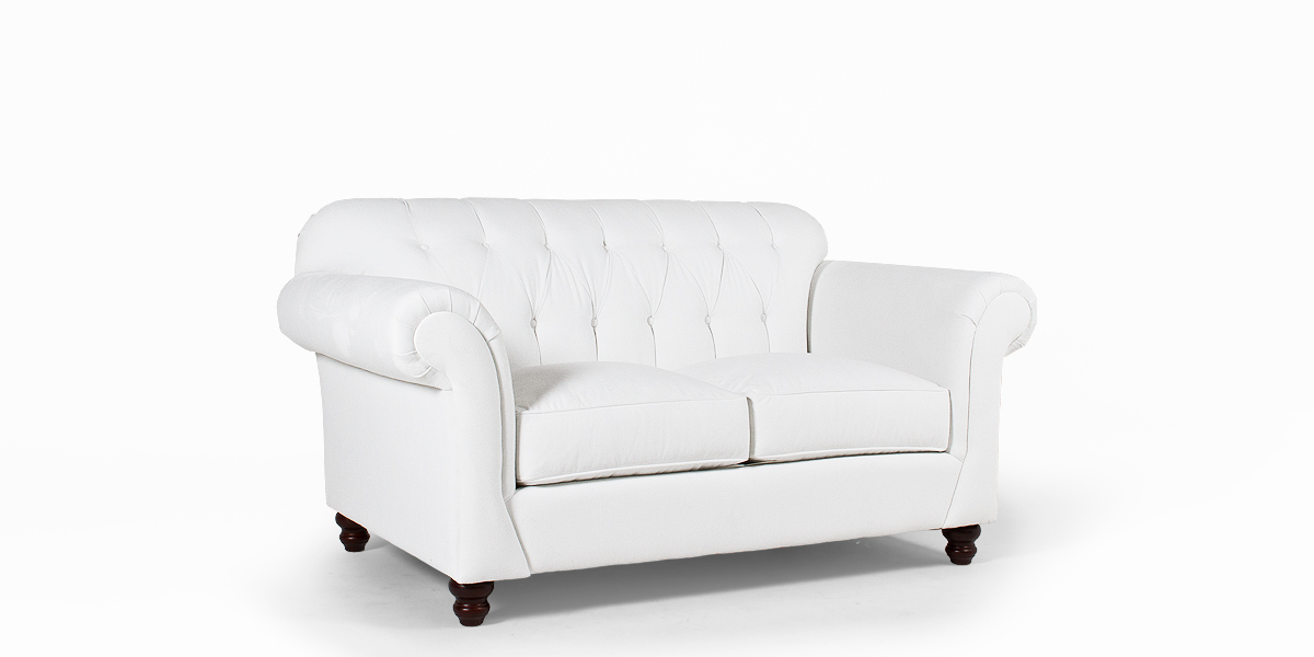 "70""w x 41""d Berkshire White Loveseat LVS013469"