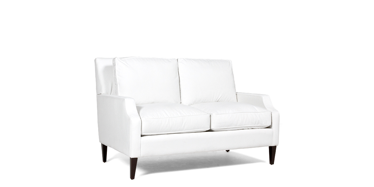 "71""w x 39""d Berkshire White Loveseat LVS013474"