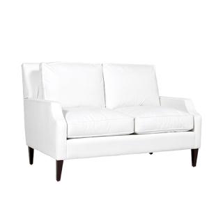 "71""w x 39""d Berkshire White Loveseat LVS013474"
