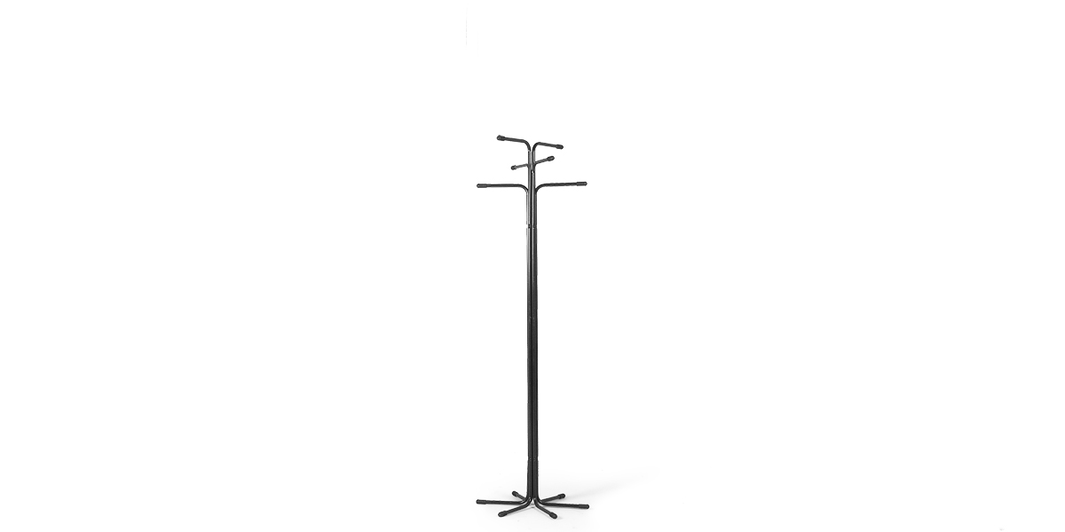 "66.5""h Black Metal Coat Tree MIS009873"