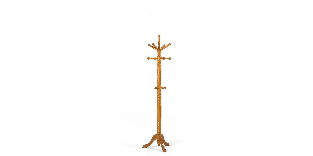 "74""h Coat Tree Bentwood Oak MIS010022"