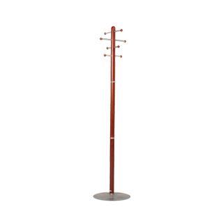 "69""h Medium Cherry Coat Tree MIS011975"