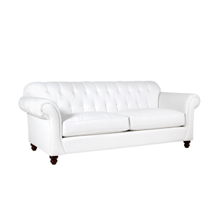 "93""w x 41""d Berkshire White Sofa SOF013468"