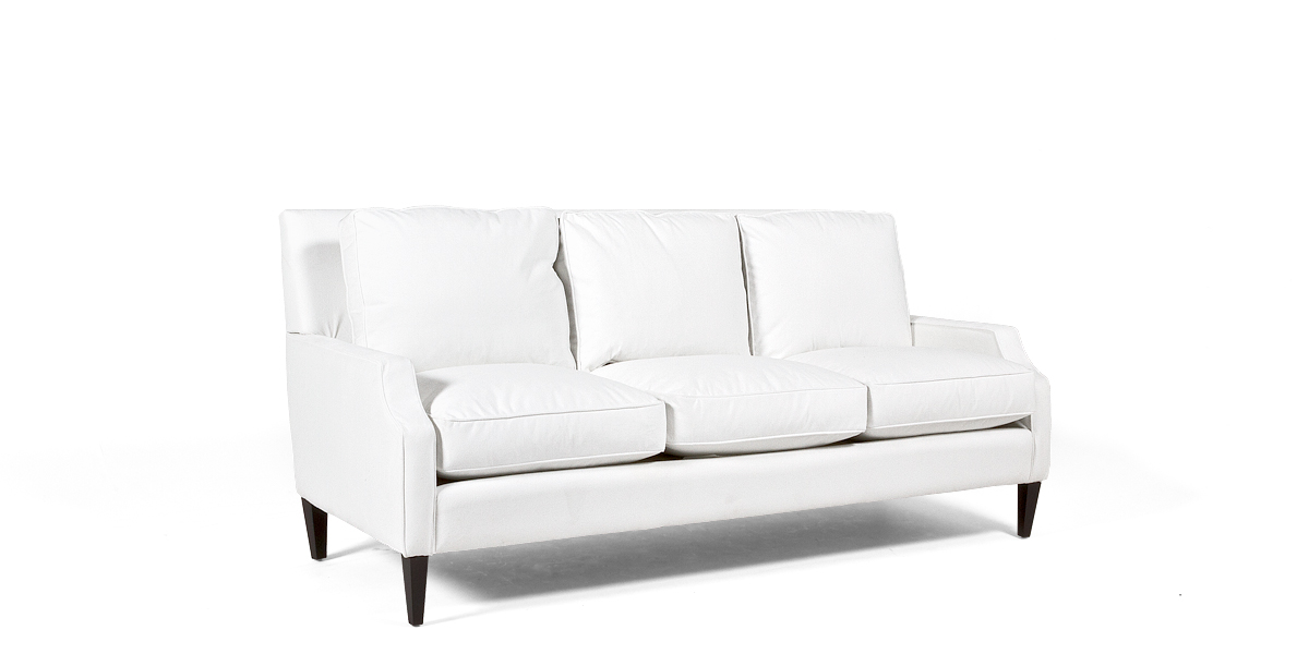 "85""w x 39""d Berkshire White Sofa SOF013473"
