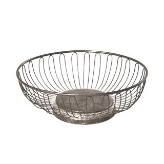 """9.75""""dia Silver Wire Bowl ACC000061"""