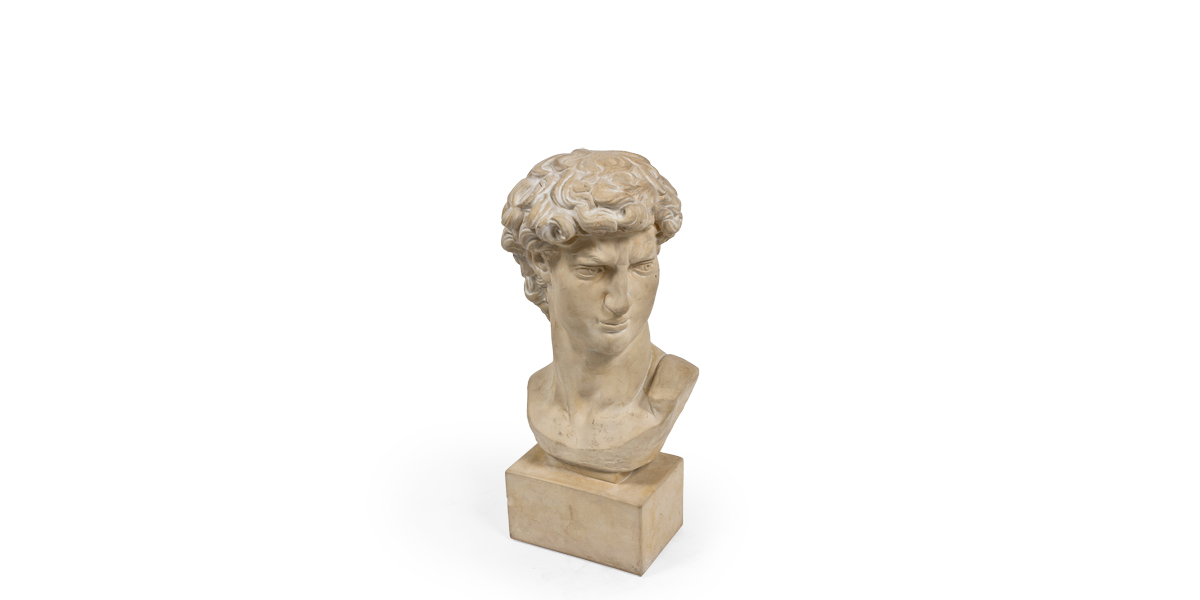 """24""""h Plaster Bust ACC000598"""