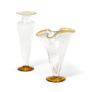 "11""h - 12.75""h Glass Vase Set"