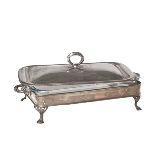 "18""w x 10""d Brass Serving Tray ACC001323"