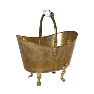"14.5""h Brass Bucket ACC001498"