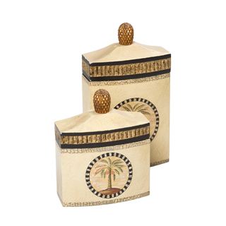 """10""""h - 14""""h Tan Canister Set"""
