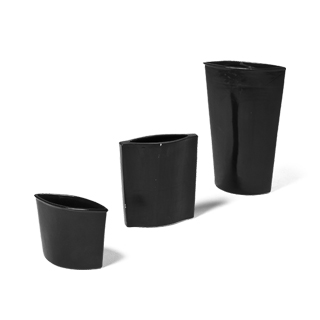 "5.5""h - 13.5""h Black Glazed Vase Set"