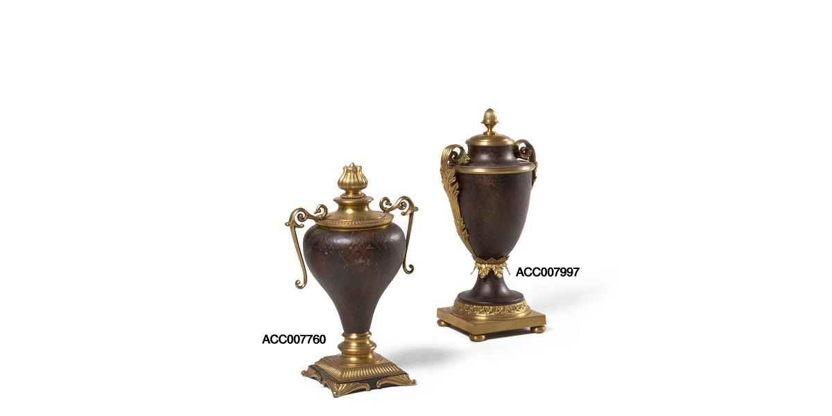 "18""h - 20.5""h Bronze Decorative Container Set"