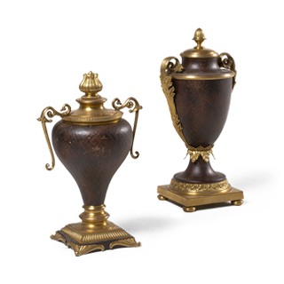 "18""h - 20.5""h Bronze Decorative Container Set"