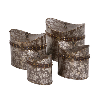 """7.5""""h - 11""""h Set of 4 - Brown Boxes ACC008537"""