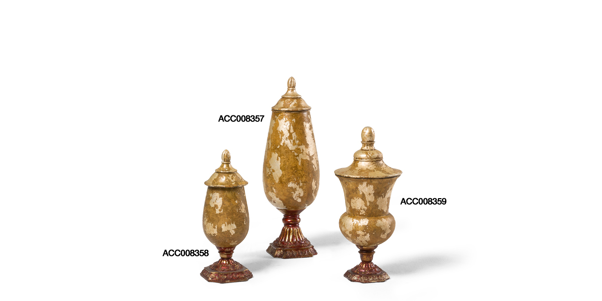 "13""h - 19""h Gold Decorative Container Set"