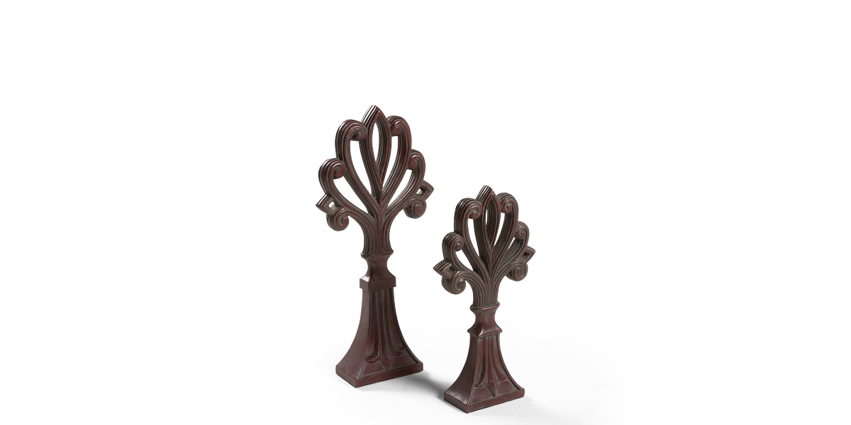 "17""h - 23""h Mahogany Sculpture Set"