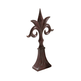 "23""h Red Mahogany Decorative Object ACC008838"
