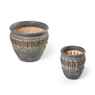 "8""h - 10""h Terracotta Planter Set"