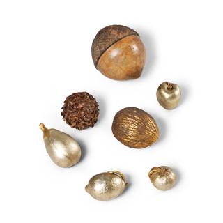 Assortment of Decorative Fruits + Nuts