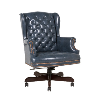 Blue Vinyl Executive High-Back Chair CHR011254