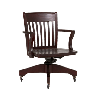 Mahogany Mid-Back Swivel Chair CHR013284