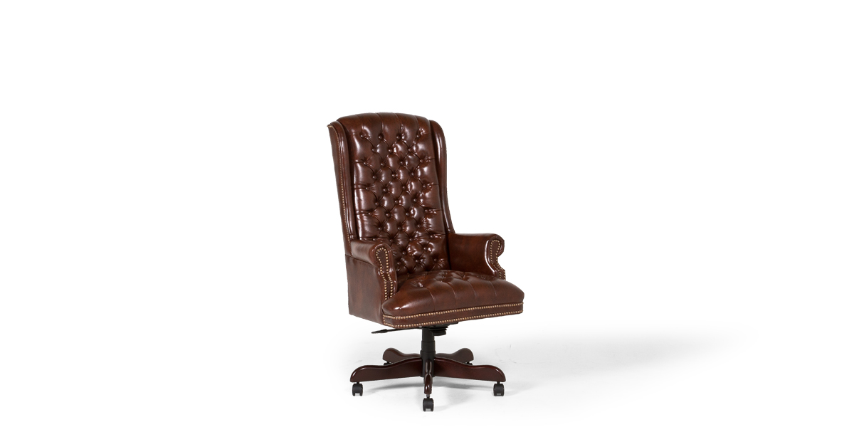 Walnut Brown Leather Executive Hi-Back Chair CHR013483
