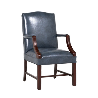 Blue Vinyl Martha Washington Guest Chair CHR013486