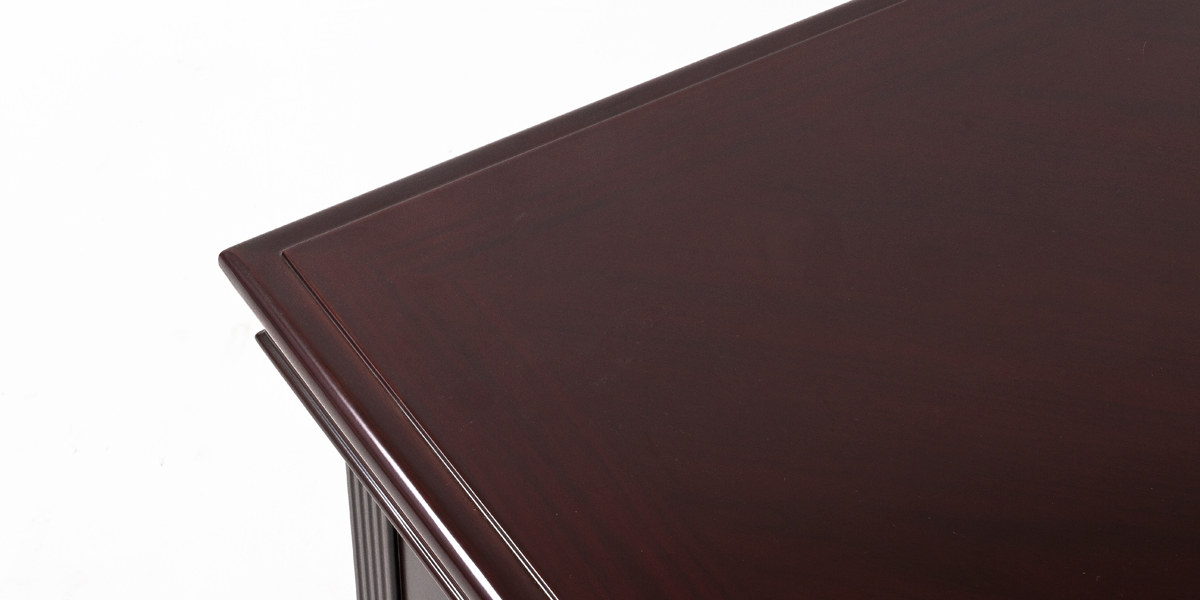 "72""w x 36""d Traditional Dark Mahogany Desk DSK013454"