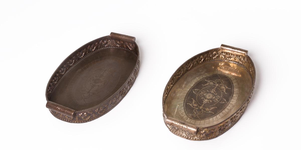 "28.5""w x 16""d Bronze Tray Set"
