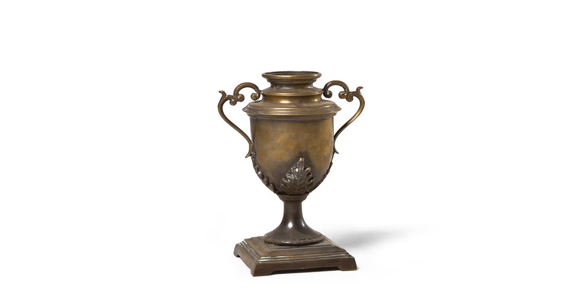 "12.75""h Bronze Urn ACC000526"