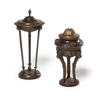 "10""h - 12.5""h Bronze Decorative Container Set"
