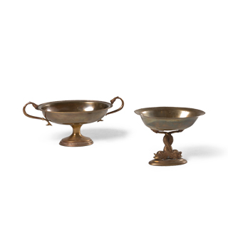 Antique Brass Decorative Containers Set