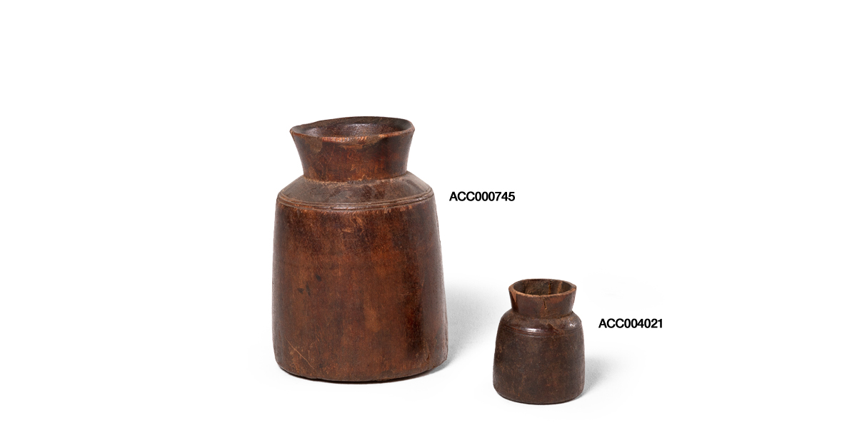 Rustic Wooden Vase Set