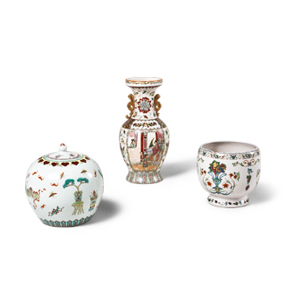 Floral Ceramic Decorative Containers Set
