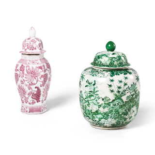 Oriental Decorative Containers Set