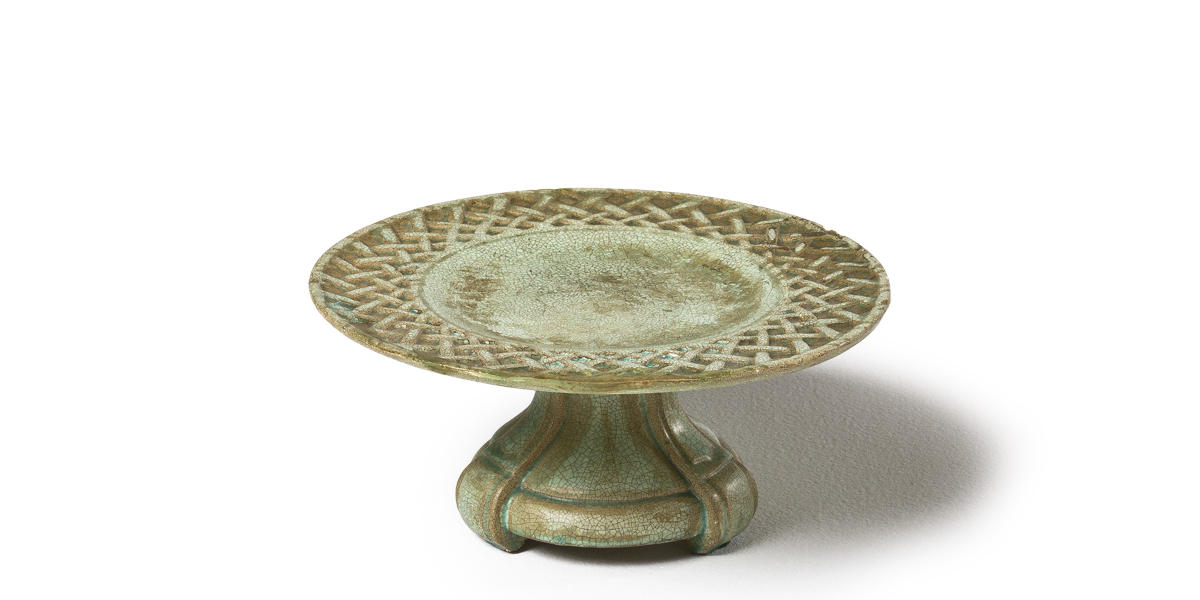 "4""h Green Stone Serving Platter ACC000971"