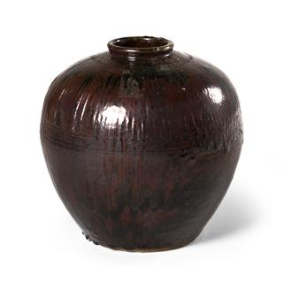 "16""h Black Vase ACC001279"