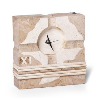 "7.25""h Stone Clock ACC001346"
