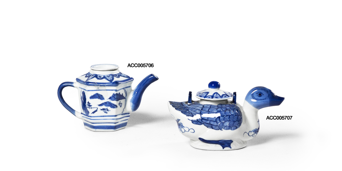 "4.5""h - 5""h Blue Ceramic Bowl Set"