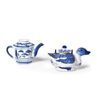 "4.5""h - 5""h Blue Ceramic Bowl Set"