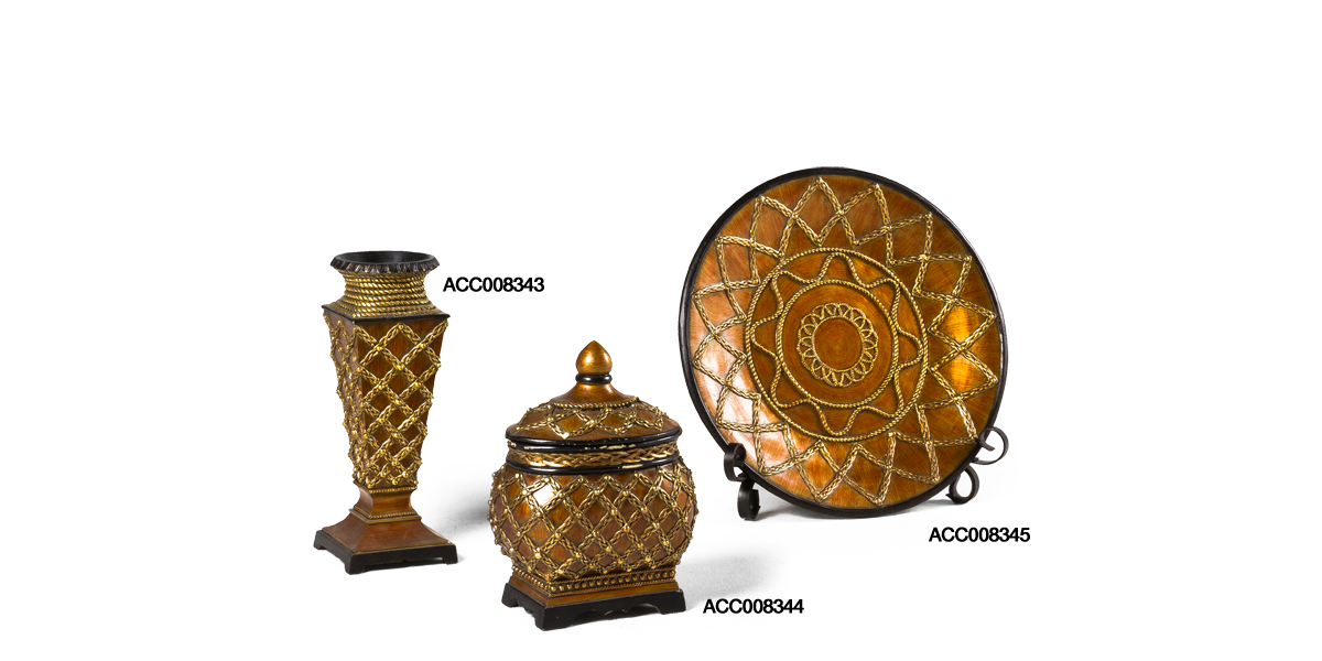 Gold Decorative Objects Set
